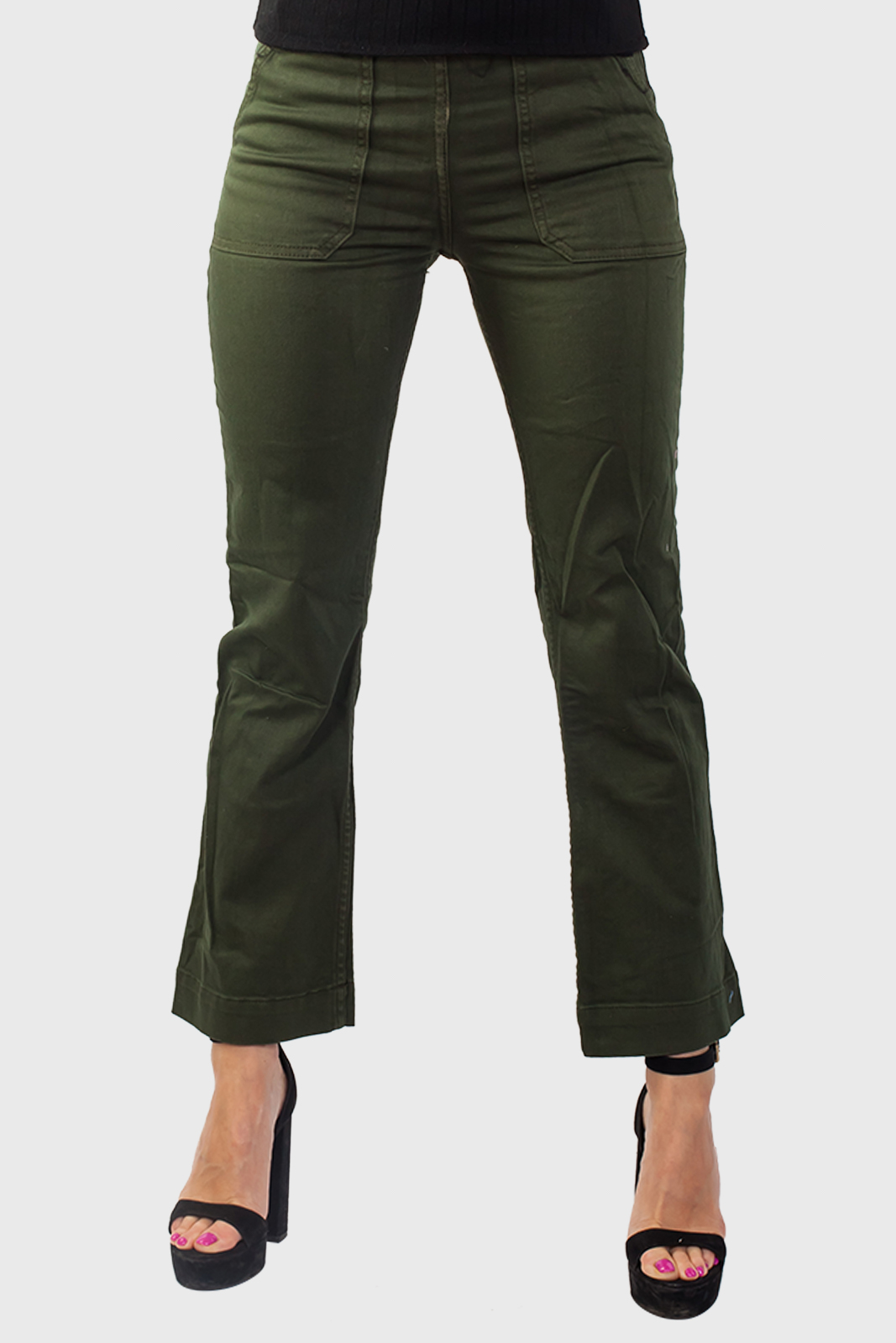 Заказать женские джинсы цвета хаки