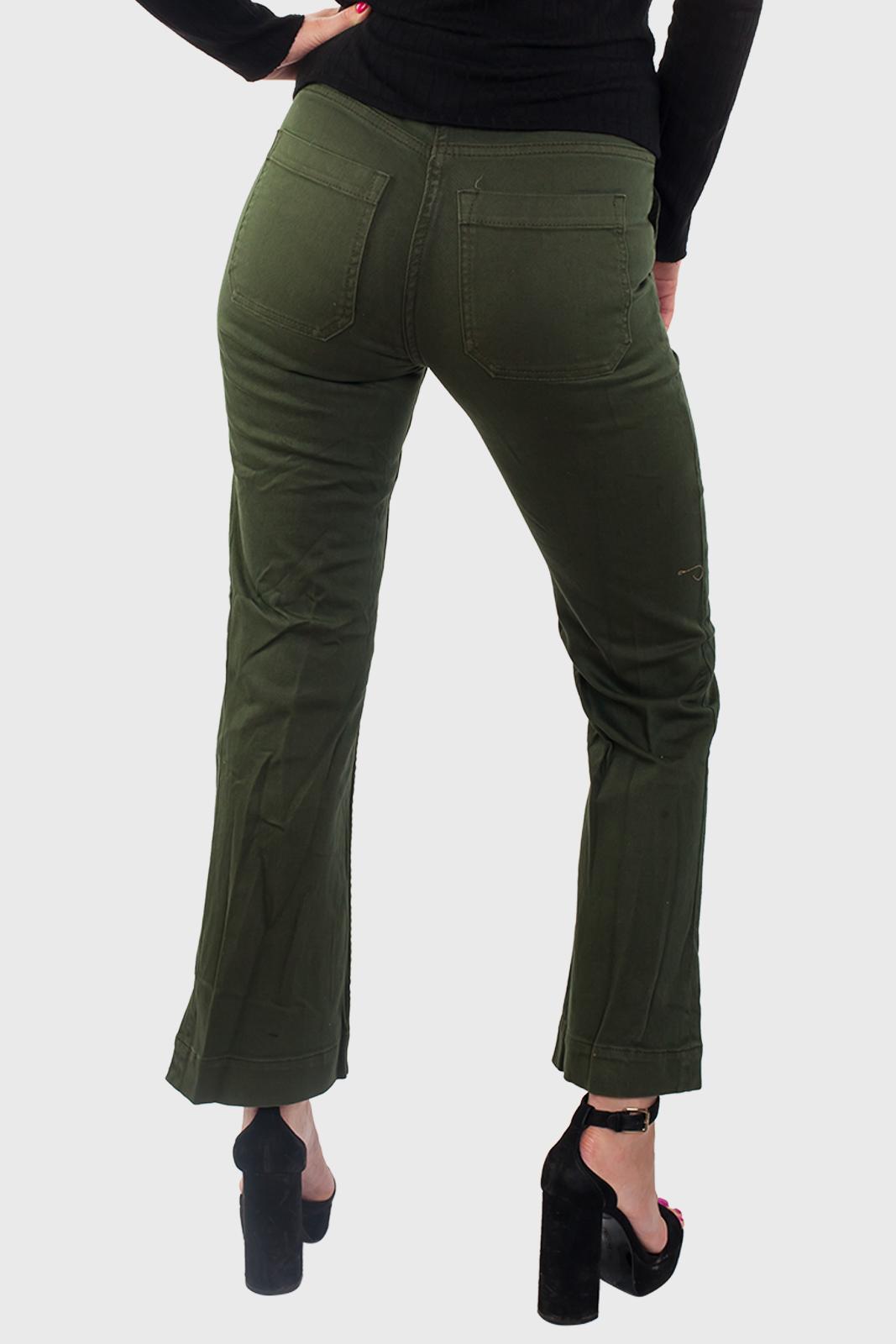 Женские джинсы цвета хаки оптом