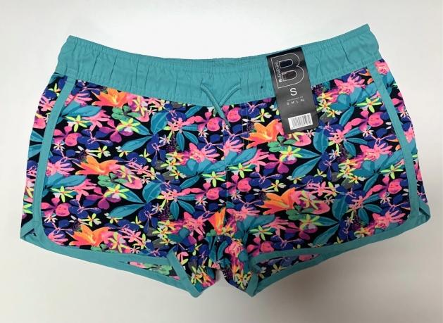 Женские летние шорты с цветочным принтом