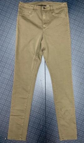 Женские оливковые джинсы