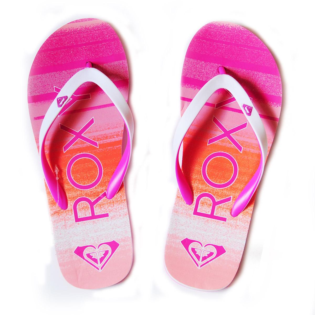 Женские розовые шлепки от бренда Roxy - заказать в интернет-магазине