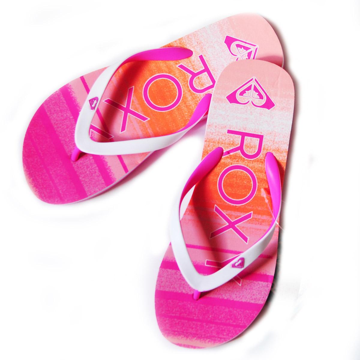Заказать женские розовые шлепки от бренда Roxy - заказать в интернет-магазине
