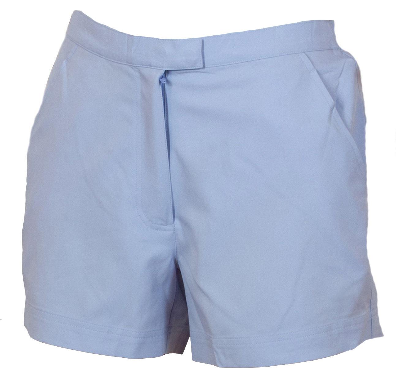 Купить женские шортики светло-голубого цвета