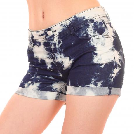 Женские шорты в обтяжку из умной комбинированной ткани. Альтернативный стиль от ТМ Total Girl (США)