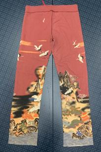Женские штаны с широким поясом-резинкой