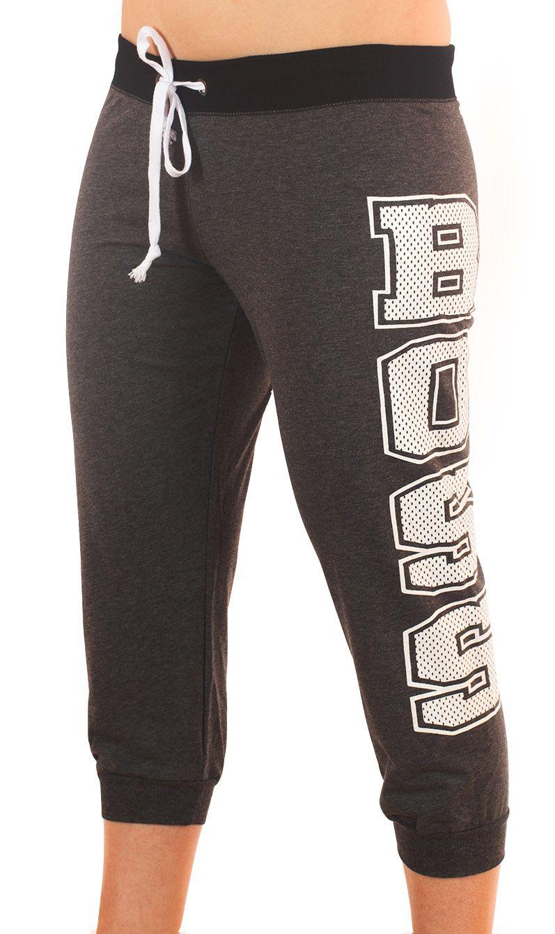 Женские спортивные брюки капри Coco Limon - вид спереди