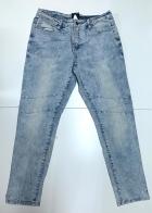 Женские стильные джинсы голубого цвета