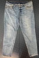 Женские светлые джинсы от &DENYM со стразами
