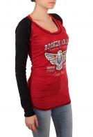 Красный женский лонгслив Panhandle