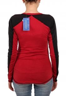 Красный женский лонгслив Panhandle с рукавом реглан. Приятная ткань, модный удлиненный фасон и душевная цена