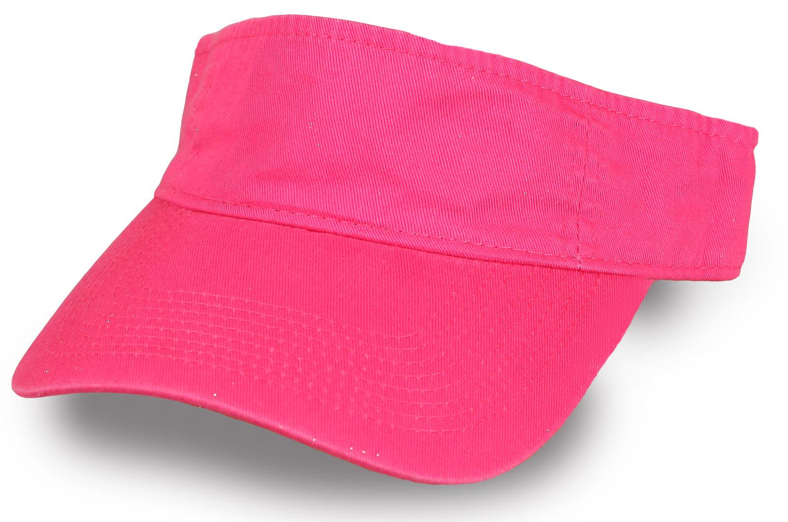Женский розовый козырек