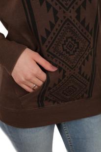 Женский свитер с карманом кенгуру. Удобный оверсайз кэжуал от ТМ Rock and Roll Cowgirl. Никаких компромиссов: и тепло, и стильно!