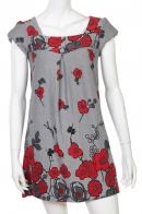 Женственное брендовое платье с контрастным принтом