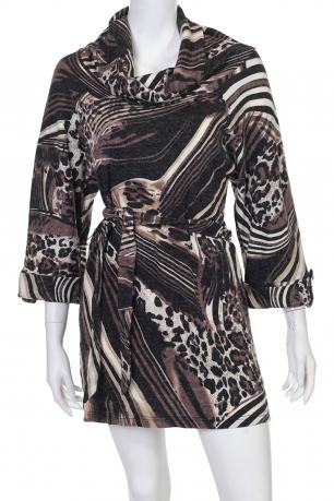Женственное платье с поясом от LB
