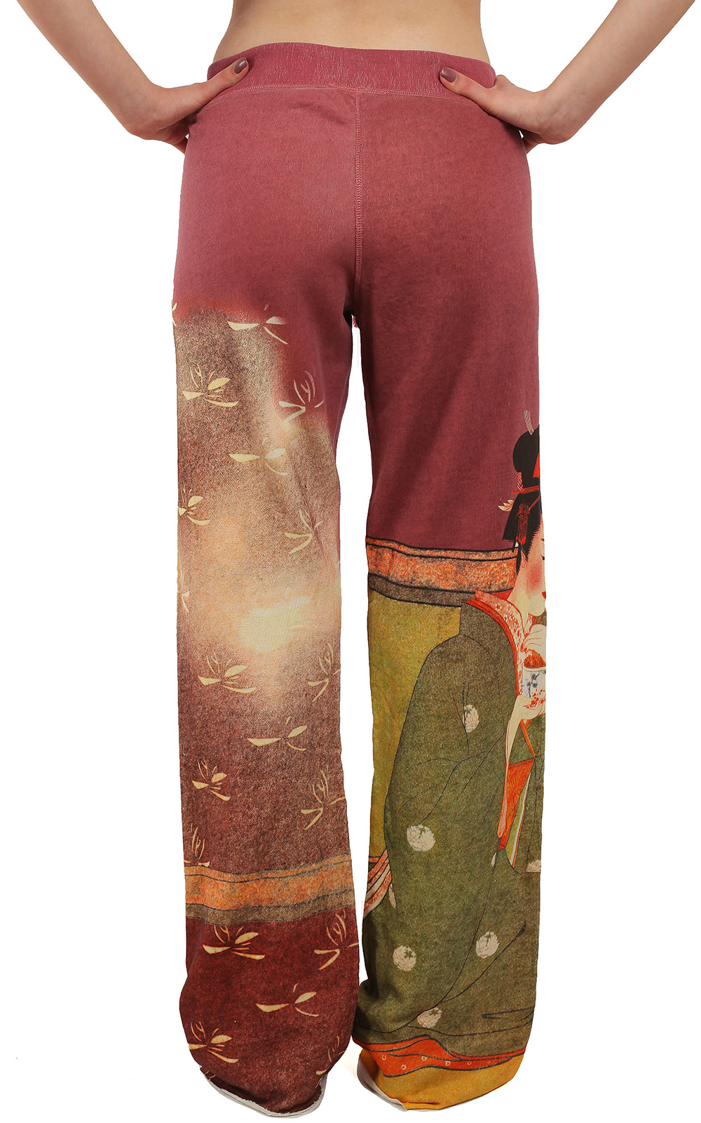 Женственные штаны Paparazzi с тематическим восточным принтом – прямой крой, визуально удлиняющий ноги