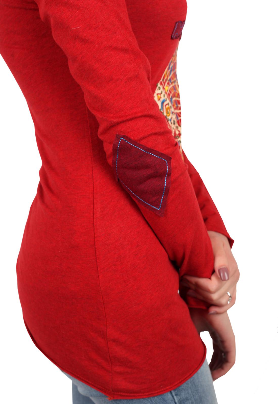 ХИТ продаж! Женственный реглан-туника с декольте и аппликациями-заплатками на локтях. Ограниченная серия от ТМ Panhandle