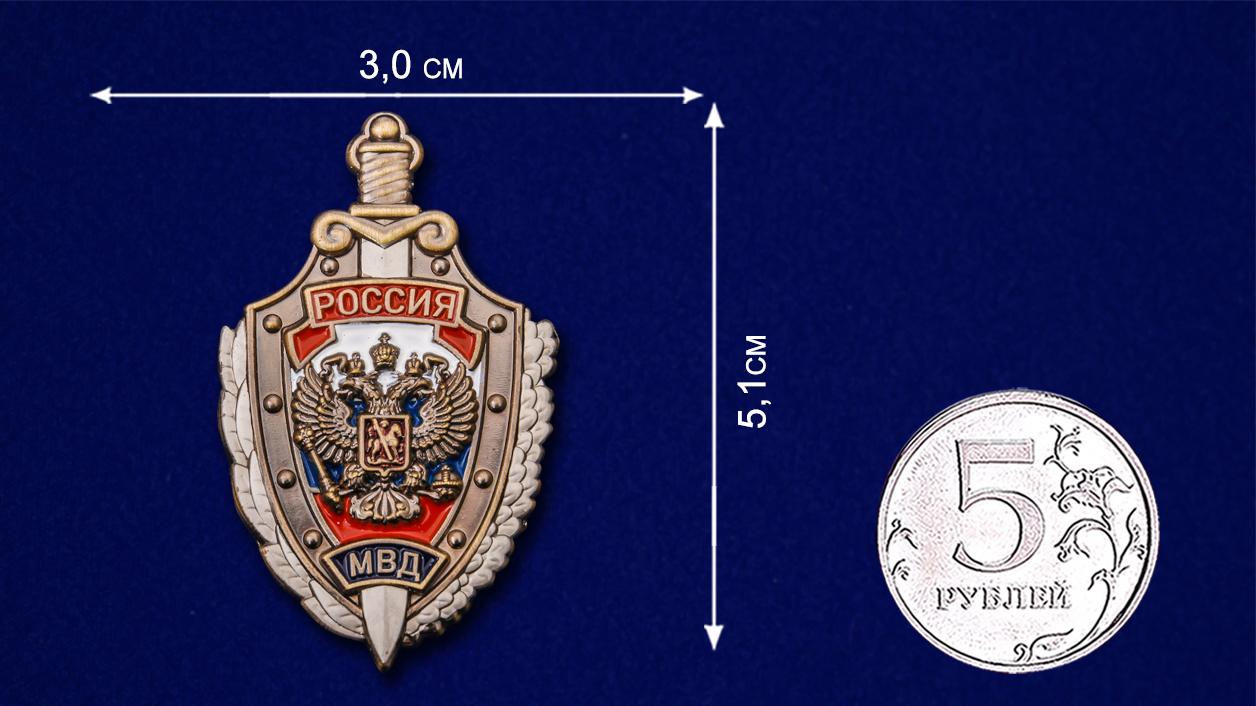 Жетон металлический «МВД России» - размер