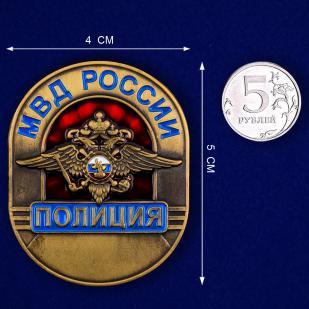 Жетон металлический «Полиция МВД России»-сравнительный размер