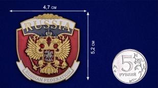 """Жетон """"Russia"""" - сравнительный размер"""