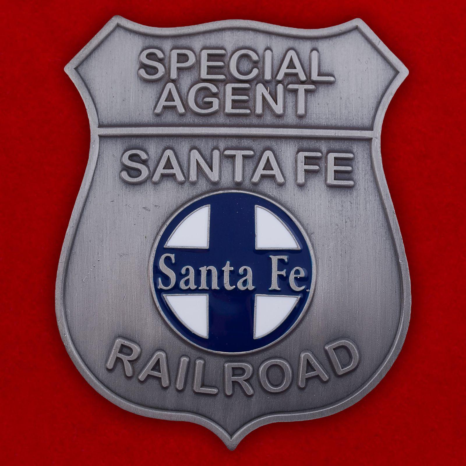 """Жетон """"Специальный агент на железных дорогах Санта-Фе"""""""