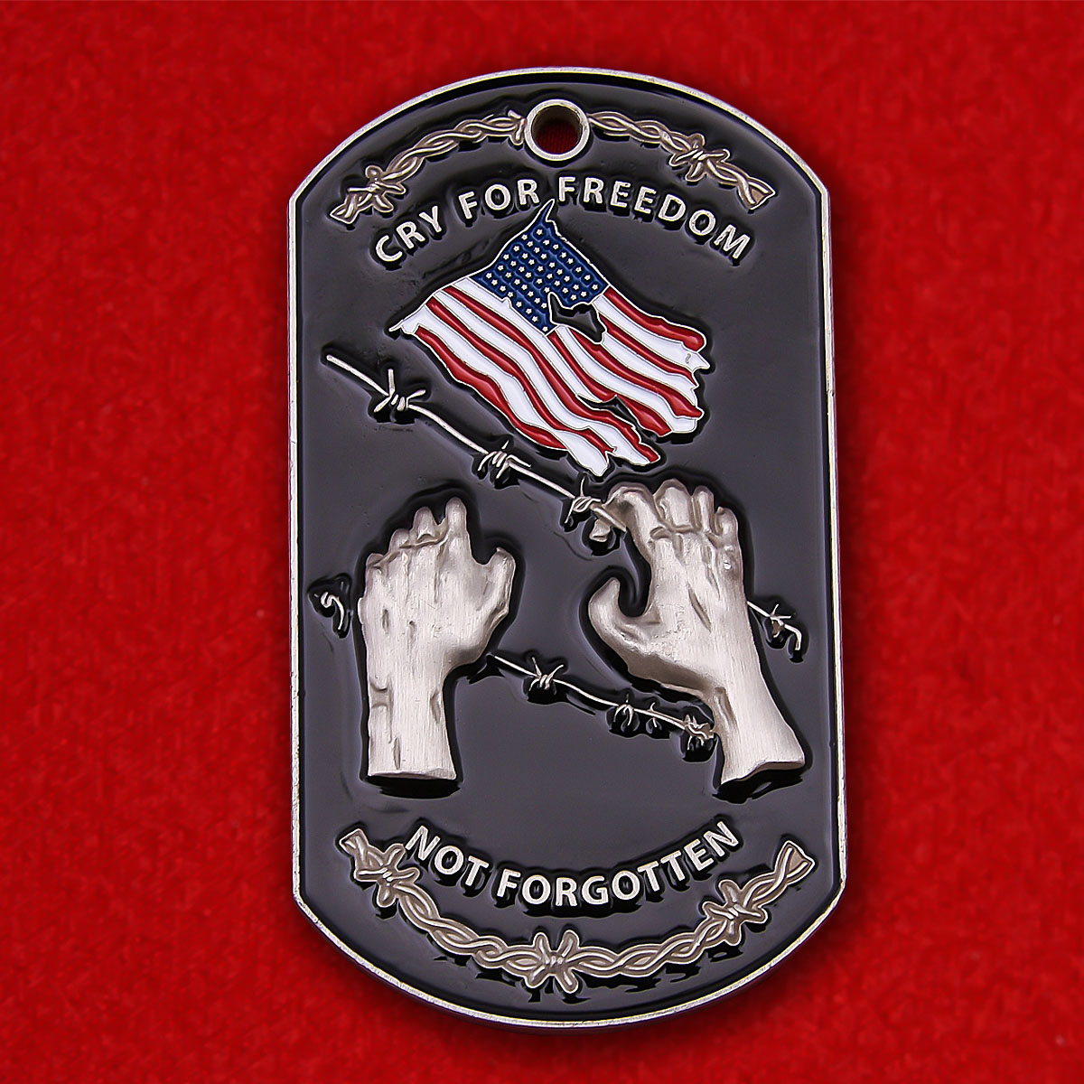"""Жетон """"В память о попавших в плен военнослужащих Армии США"""""""