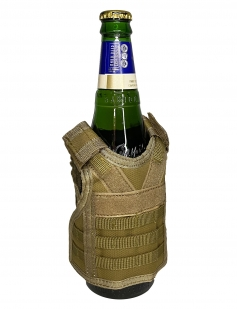 Жилет для бутылок в стиле милитари (хаки-песок)