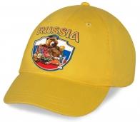 Живописная хлопковая кепка с оригинальным принтом Russia «Мишка приглашает за стол!» всегда подчеркнет Ваш индивидуальный образ! Торопитесь приобрести!