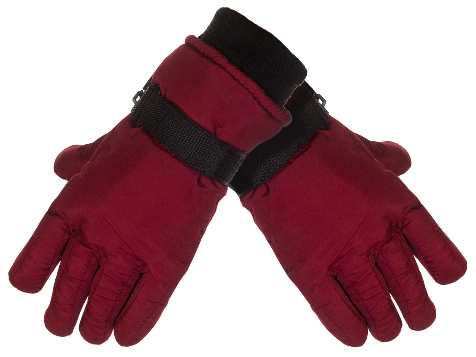 Купить зимние бордовые перчатки Thinsulate™