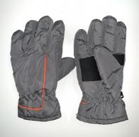 Зимние детские перчатки серого цвета
