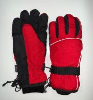 Зимние красно-черные перчатки утепленные