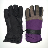 Зимние трехцветные перчатки для подростков