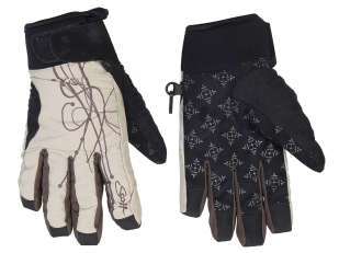 Зимние женские перчатки с принтом