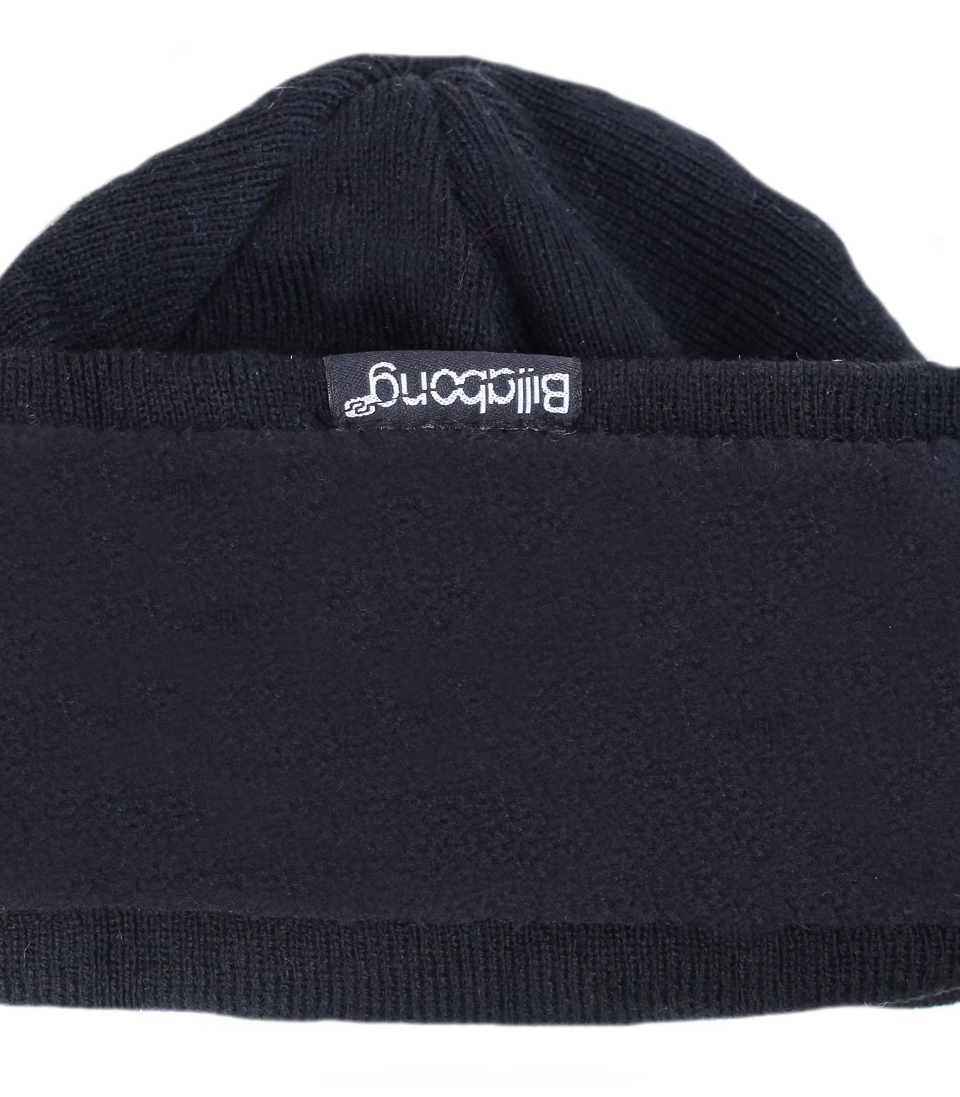 Заказать зимнюю брендовую мужскую шапку бини Billabong утепленную флисом современная модель по лучшей цене