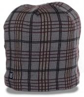 Зимняя мужская шапка в неподражаемую стильную клетку на флисе от Burton