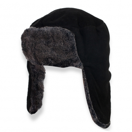 Зимняя шапка с ушами