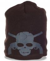 Зимняя трешевая женская шапка бини