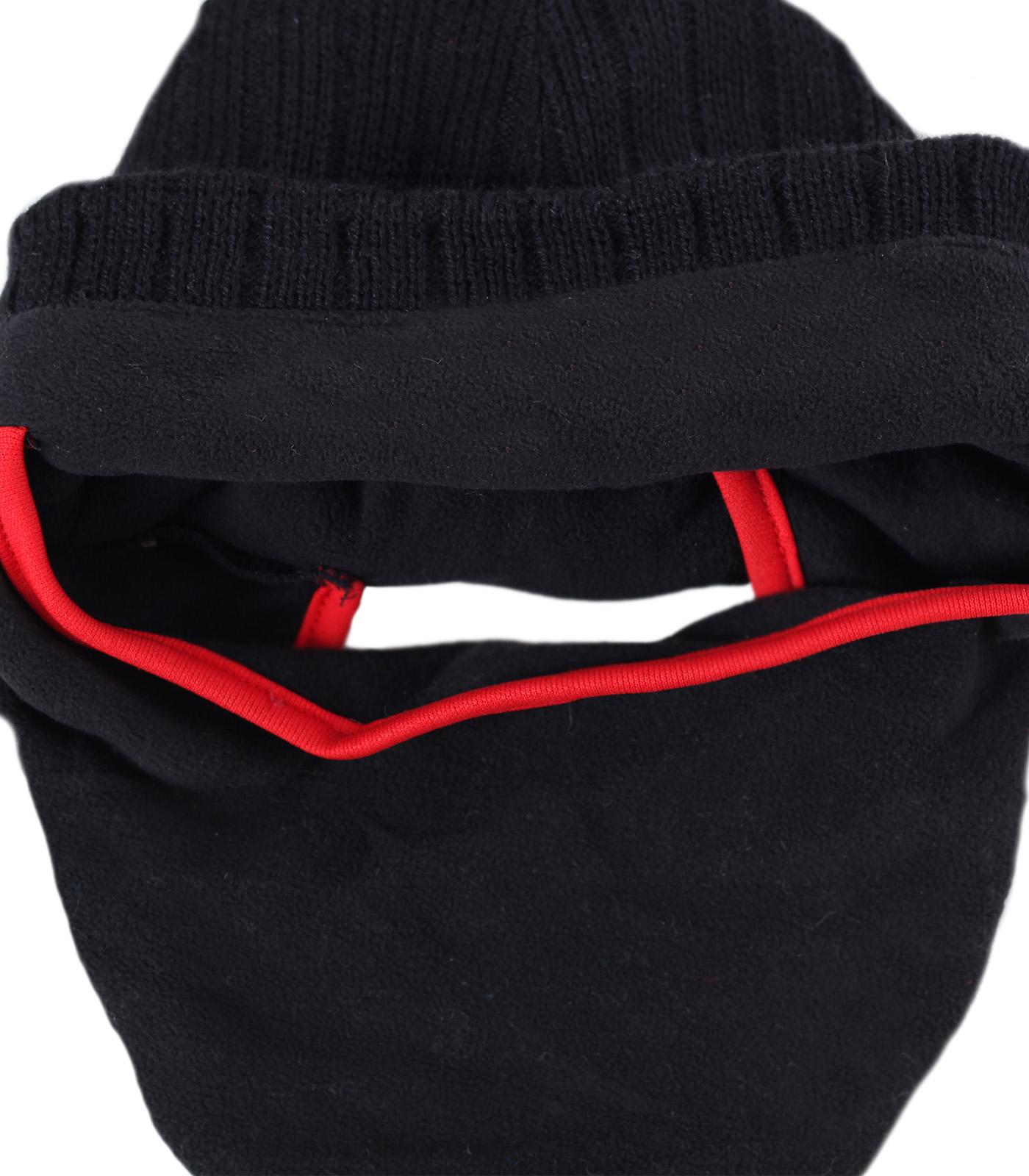 Купить зимнюю трикотажную мужскую шапку-балаклаву утепленную флисовой подкладкой по оптимальной цене
