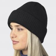 Зимняя вязаная шапка с флисовой подкладкой