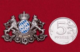 """Значок """"50 лет филиалу международной организации Lions Club International в Баварии"""""""