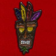 Значок Аку-Аку для фанатов игры Crash Bandicoot
