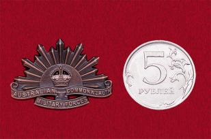 Значок Армии Австралии старого образца (бронза)