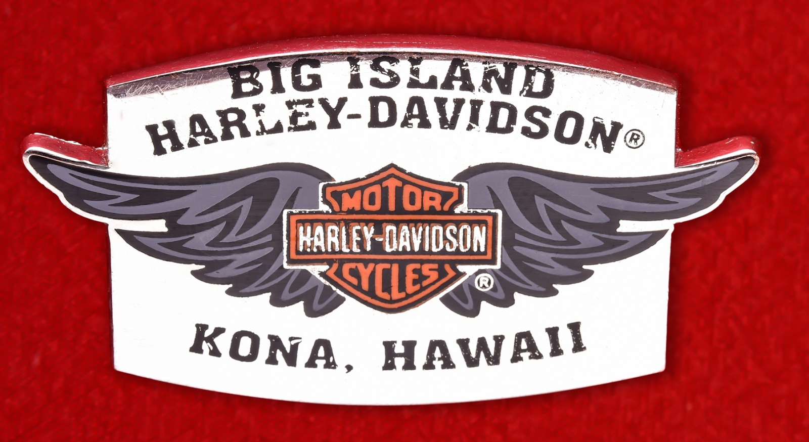 "Значок байкеров США ""Харлей-Дэвидсон, Кона, Гавайи"""