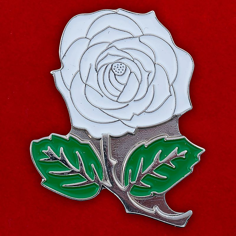 "Значок ""Белая роза"""