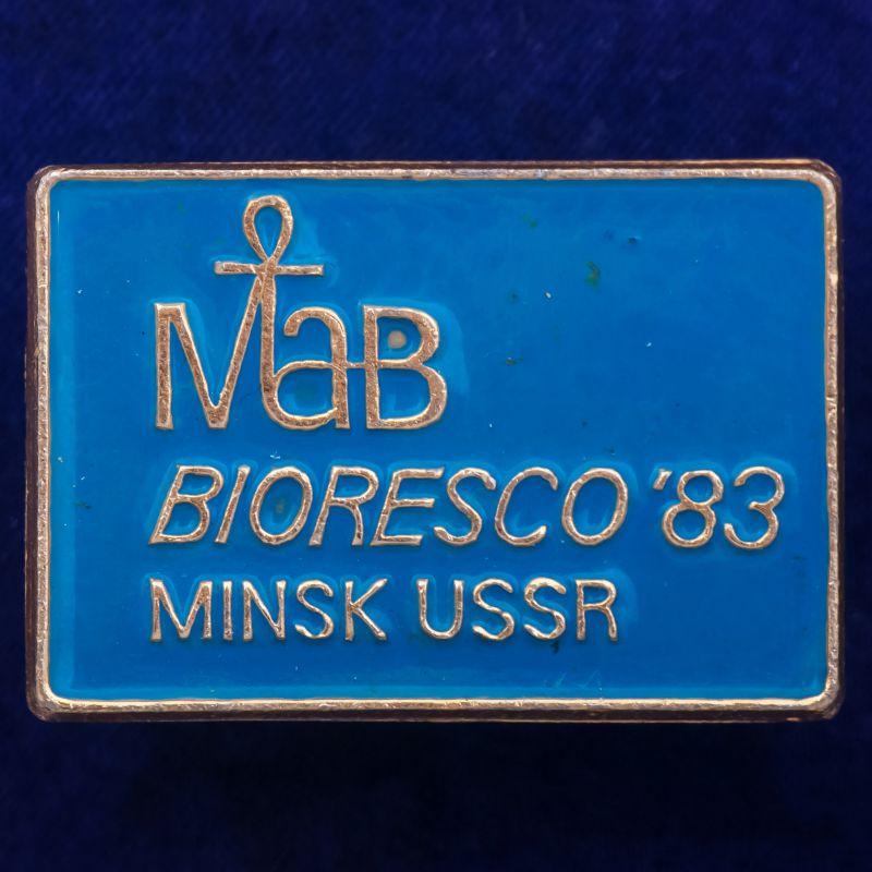 """Значок """"Bioresco-83. Минск"""""""