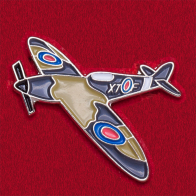 """Значок """"Британский истребитель Supermarine Spitfire"""" из коллекции """"Авиация"""""""
