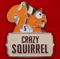 "Значок ""Crazy Squirrel"""