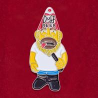 """Значок для фанатов """"Симпсонов"""" Duff Beer"""