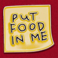 """Значок для фанатов Симпсонов """"Покормите меня"""""""