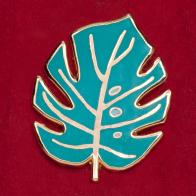 """Значок для любителей комнатных растений """"Монстера"""""""