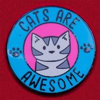 Значок для любителей котиков от Doodle Cats